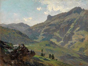 Carlos de Haes-Berg Landschaft im Frühling, Antike Landschaft