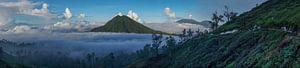 Panoramisch uitzicht vanop de Kawa Ijen vulkaan