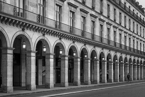 Arcade in de rue de Rivoli in Parijs van