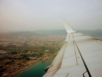 Zuid Spanje vanuit het vliegtuig van ! Grobie