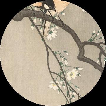 Koolmezen op bloesemtak van Ohara Koson