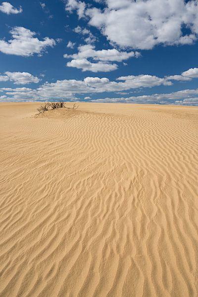 Lijnenspel in het zand.