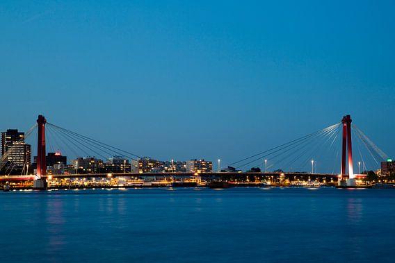 Willemsbrug in Rotterdam van Willem Vernes