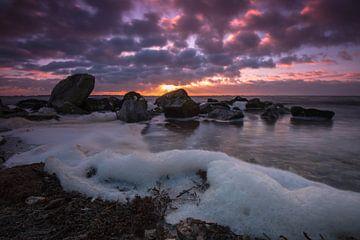 Sunset at the Grevelingen Lake. van Mariska Brouwenstijn