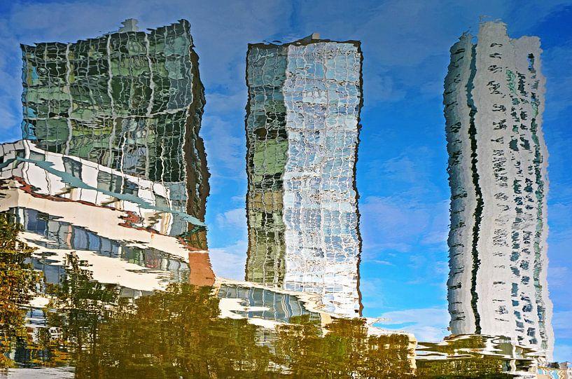 Spiegelbeeld Scheepmakershaven, Rotterdam van Frans Blok