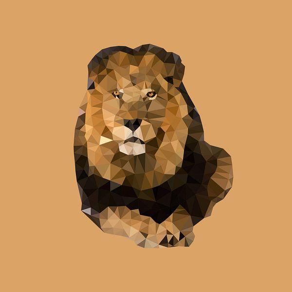 Big Five Safari: Leeuw van Low Poly