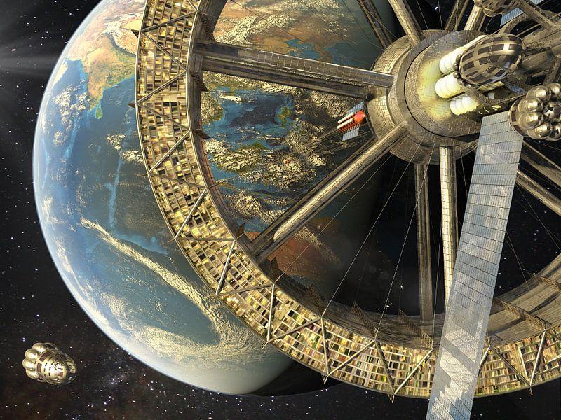 De ruimtelift van Sulawesi van Frans Blok