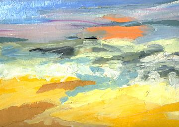 Soleil orange sur Yvon Schoorl