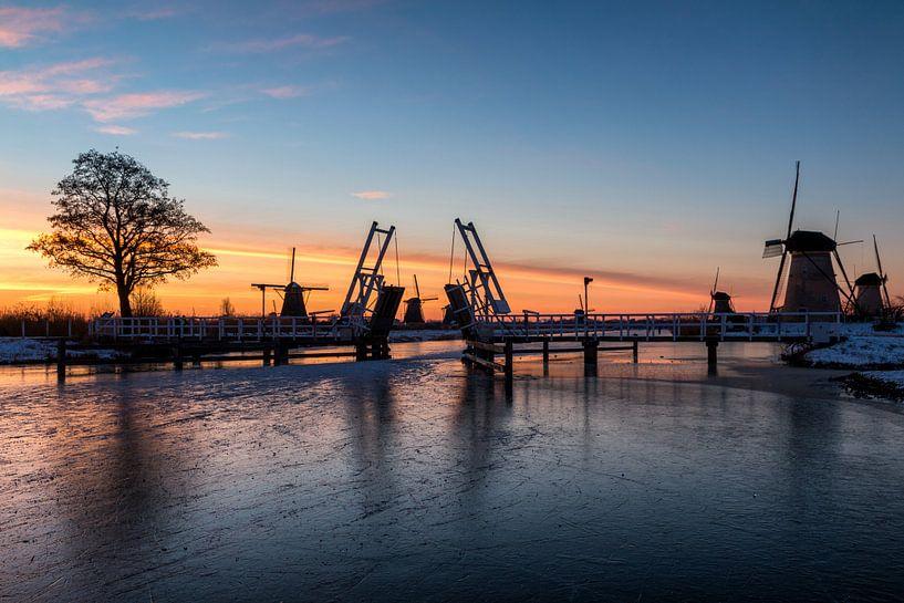 Kinderdijk winter 2 van Nuance Beeld