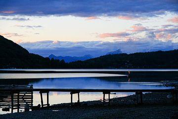 Water bij zonsondergang von Matthijs Damen
