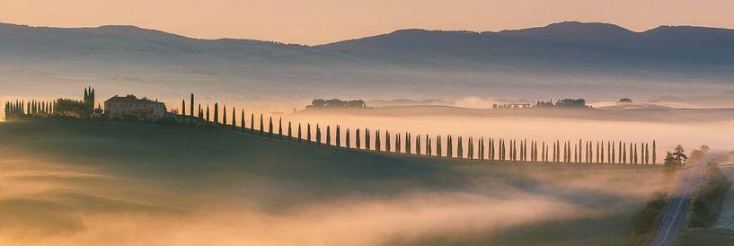 Sonnenaufgang Agriturismo Poggio Covili, Toskana von Henk Meijer Photography