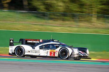 Porsche 919 Hybrid race car at Spa Francorcahmps sur Sjoerd van der Wal