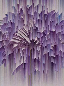 Abstract lijnenspel in paars van Maurice Dawson