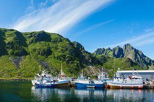 Ballstad on the Lofoten islands in Norway