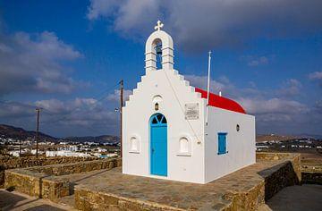 Kerkje op Mykonos, Griekenland van Adelheid Smitt