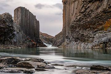De Basalt kolommen canyon studlagil