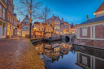 Verdonkenoord met de Bloemenboot en Gewelfde Stenenbrug van Sjoerd Veltman
