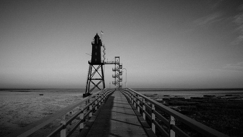 Leuchtturm Obereversand (Nordsee, Wattenmeer) von Denny Lerch