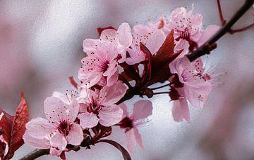 Blüte mit Öleffekt von Marga Vroom