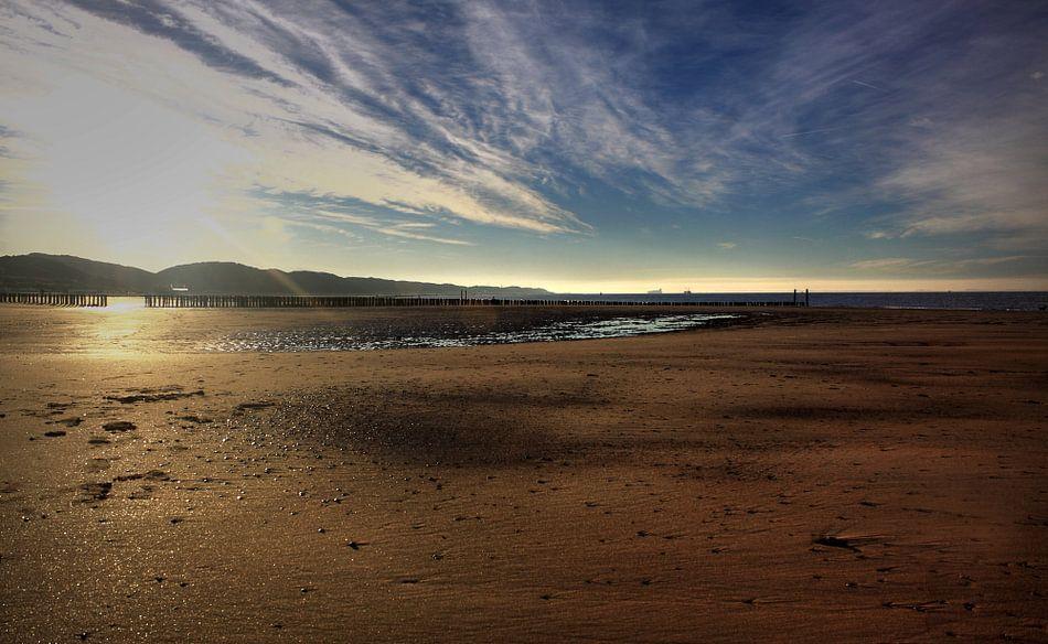 Vroege ochtend op het strand van Zoutelande