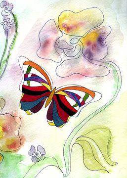 Schmetterling Art Deco 1 von Claudia Gründler