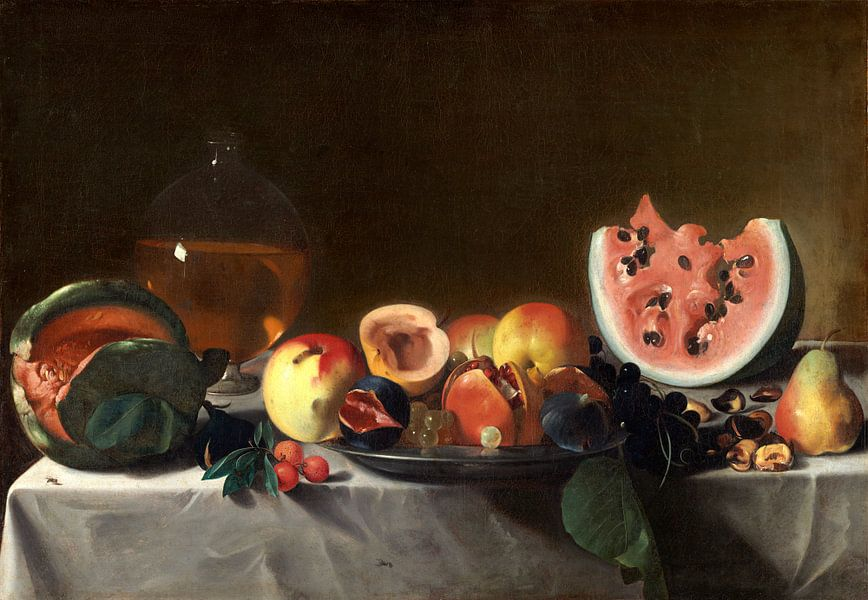 Stilleven met fruit en karaf, Pensionante del Saraceni