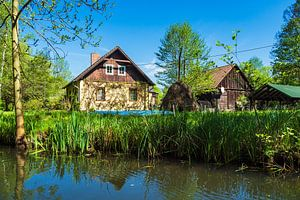 Landscape in the Spreewald area, Germany