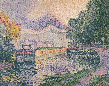 Der Schlepper, Kanal in Samois, Paul Signac