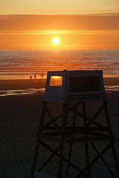 Cannon Beach at sunset van Jeroen van Deel
