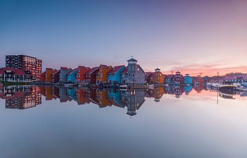 Sonnenaufgang Reitdiephaven Groningen von Marcel Kerdijk