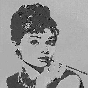 Audrey Hepburn - Vibes von Kathleen Artist Fine Art