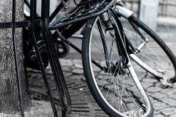 Fiets met slag in wiel von Chantal Brugmans