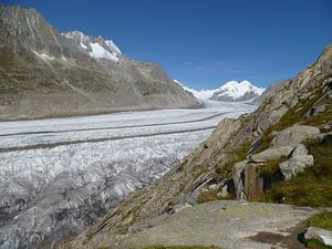 Aletschgletsjer in Zwitserland