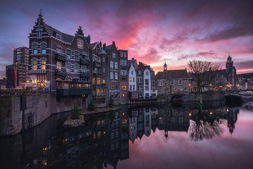 Delfshaven Rotterdam Zonsopkomst van Vincent Fennis