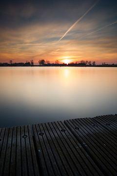 Zonsondergang steiger #03 van Gerhard Niezen Photography