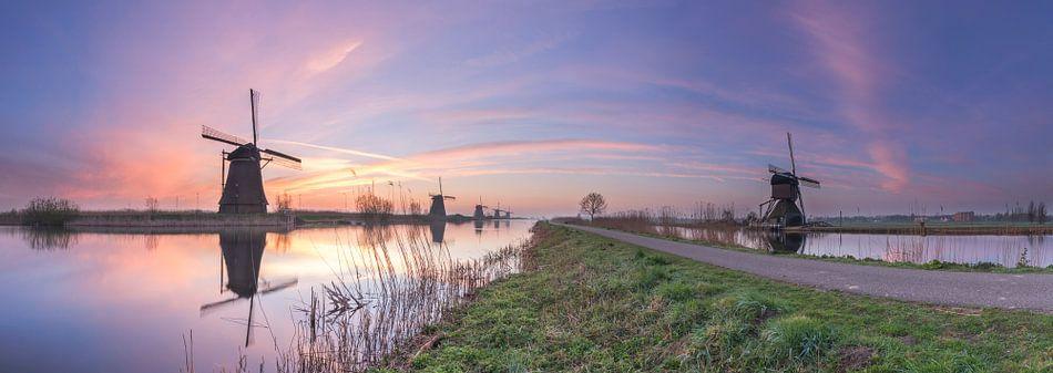 Panorama Kinderdijk van Jan Koppelaar