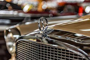 Grille en radiator ornament op een Studebaker van autofotografie nederland