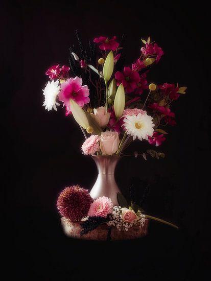 Dromerig stilleven met bloemen