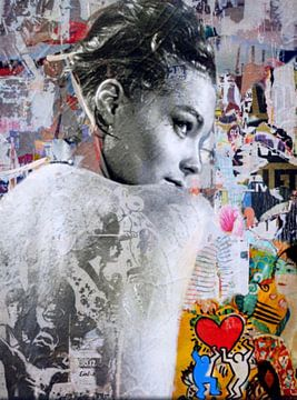 Romy Schneider Plakative Collage - Dadaismus Nonsens von Felix von Altersheim