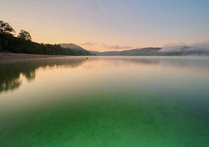 Grüner See am frühen Morgen von Etienne Rijsdijk
