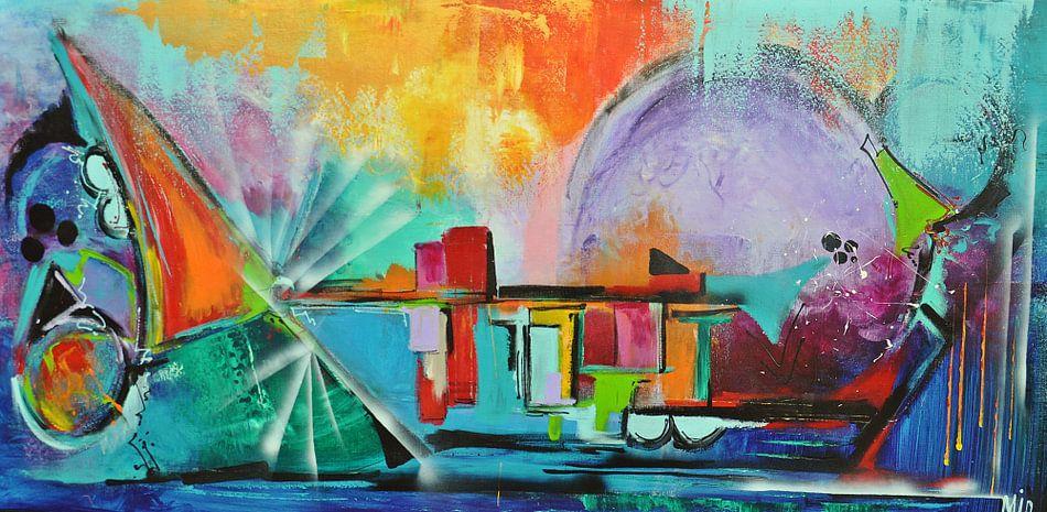 Abstract De Magie van het Leven van Kunstenares Mir Mirthe Kolkman van der Klip
