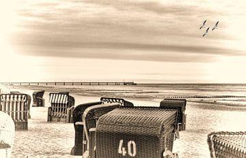 Strandstoelen op Usedom van