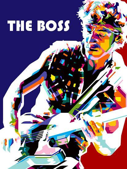 Pop Art Bruce Springsteen van Jan Willem van Doesburg