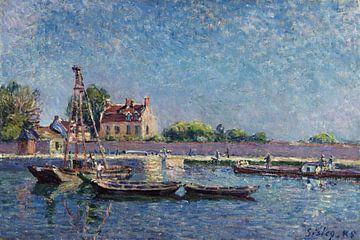 Die Schleuse von Saint-Mammès, Alfred Sisley