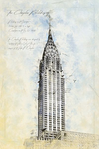 Chrysler Building, New York van Theodor Decker