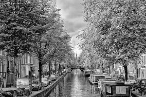 De Bloemgracht in Amsterdam in de herfst. van Don Fonzarelli