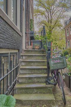 Opgang grachtenpand Amsterdam van Peter Bartelings Photography