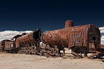 Eisenbahnfriedhof  bei Uyuni, Bolivien von Jürgen Ritterbach