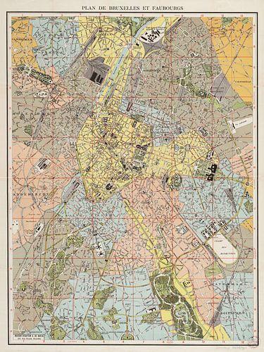 Plan de Bruxelles et faubourgs van