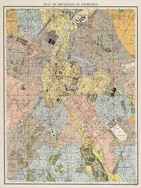 Plan de Bruxelles et faubourgs van Rebel Ontwerp